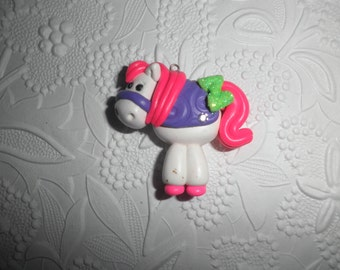 Polymer Clay Pony/Horse - Cute Little Chunky Pony/Horse Pendant/Gift