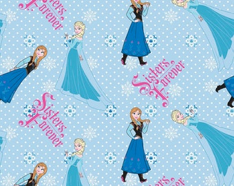 Disney's Frozen Sisters Forever Flannel Fabric by the Yard