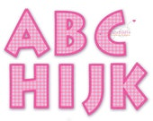 Applique embroidery font 310 - 4 sizes - Machine Embroidery Design -