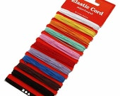 Elastic Cord 1.2mm - 10 x 3.5m assorted colours - Sewing Craft Jewellery Cords