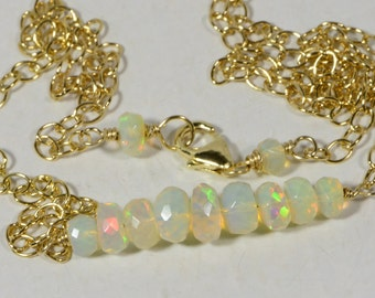Opal Necklace Ethiopian Opal Necklace Ethiopian Opal Natural Opal Jewelry