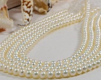 """Freshwater Pearl 5.6mm 15"""" inch Strand Bead Jewelry Making Supplies Pearl Beads"""