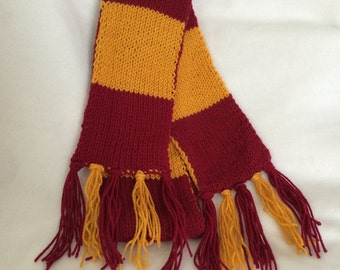 Gryffindor Red and Gold House Scarf - Kansas City Chiefs - HP - Handmade - Cosplay - Costume - Summer - Comicon - Graduation - Wedding Gift