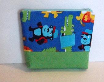 Reusable Sandwich Bag Reusable Snack Bag Food Safe Nylon Lined Eco friendly Zipper Top Animal Print Ready To Ship