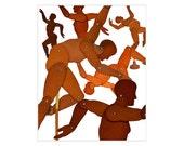 mannequin mannequins abstract modern dance  8x10 PRINT  by Elizabeth Rosen