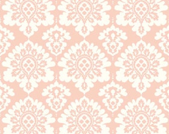 SALE Lost and Found Love Pink Damask yardage from Riley Blake Designs