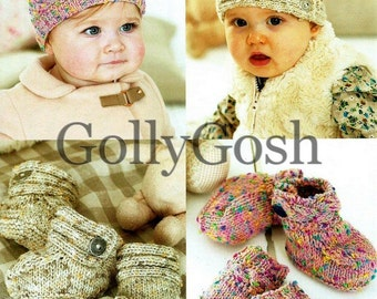 Instant Download PDF Knitting Pattern for Baby & Tots Accessories