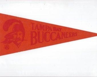 Vintage Football NFL Tampa Bay Buccaneers Football vtg Felt Pennant Collectibe Vintage 1970s Era Display Sports Stocking Stuffer Gift Idea