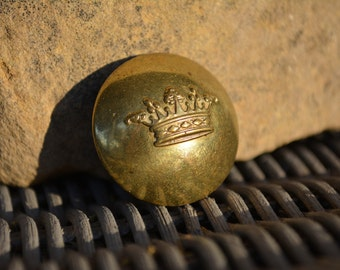Antique French Crown Button, Antique Livery Buttons, Vintage Supplies, French Livery, Superieur France Button,
