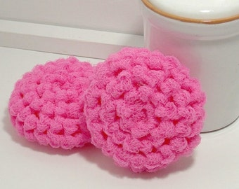 Environmentally Friendly Dish Scrubbies - Bubble Gum Pink - Set of 2