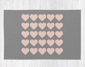 6 colour options, HEARTS Pattern Area Rug 2x3, Hearts pattern Floor Rugs 4x6, Hearts Pattern Modern Rug 3x5, Heart Throw Rug 4x6