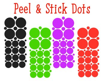 Vinyl Decal Dots...Jazz up Your Projects!