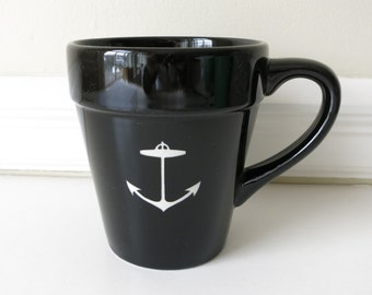 SALE reCYCLEd mug with anchor