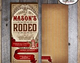 Cowboy Invitation | Cowboy Invite | Rodeo Birthday Invitation | Country Western Invitation | Wild West Invite | Address Labels | Printable