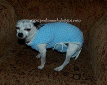 Instant Download Crochet Pattern - Dog One Piece Suit  - Small Dog Body Suit