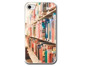 Library Books iPhone Case, Cell Phone Case, Books, Reading, Library, For the Reader, Book Lover, Pastel Colors, Librarian, Accessory iPhone