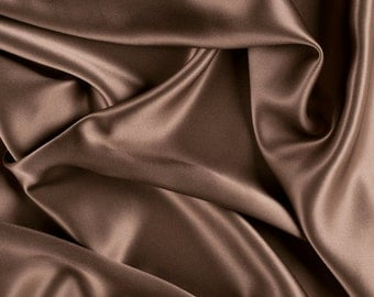 """42"""" Wide Stretch Silk Charmeuse Latte By the Yard"""