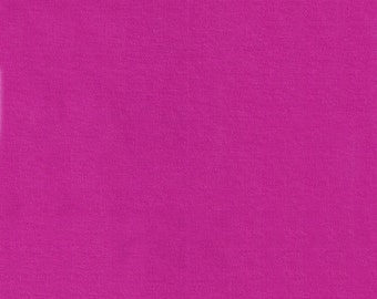 "60"" Fuschia Pink Interlock Knit Fabric-12 Yards By The Bolt"