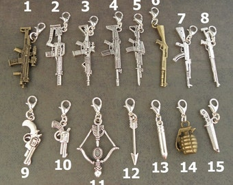 WEAPON Charm - For The Create Your Own Zombie Apocalypse Charm Bracelet - Choose 2