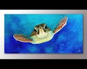 Sea Turtle Painting Print | Sea Turtle Artwork | Sea Turtle Decor | Sea Life Wall Art | Sea Animals | Animal Artwork | Sea Turtle Print