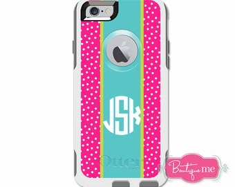 Sprinkles Dots Monogrammed Otterbox Commuter Case for iPhone 6 PLUS, iPhone 6, iPhone 5c, iPhone 5/5s, Galaxy S5, Galaxy Note 4