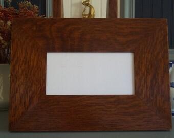 """Arts & Crafts Mission Quarter Sawn Oak 3"""" wide 4"""" X 8"""" Tile Frame Fits Motawi  Handcrafted/Handmade"""