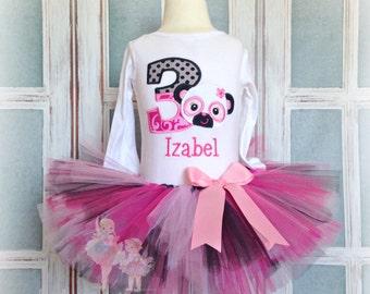 Panda birthday outfit - panda bear tutu outfit - 1st birthday outfit - first birthday panda outfit - birthday tutu outfit - personalized