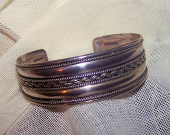 Wide Sterling Silver Cuff Bracelet - Indonesia