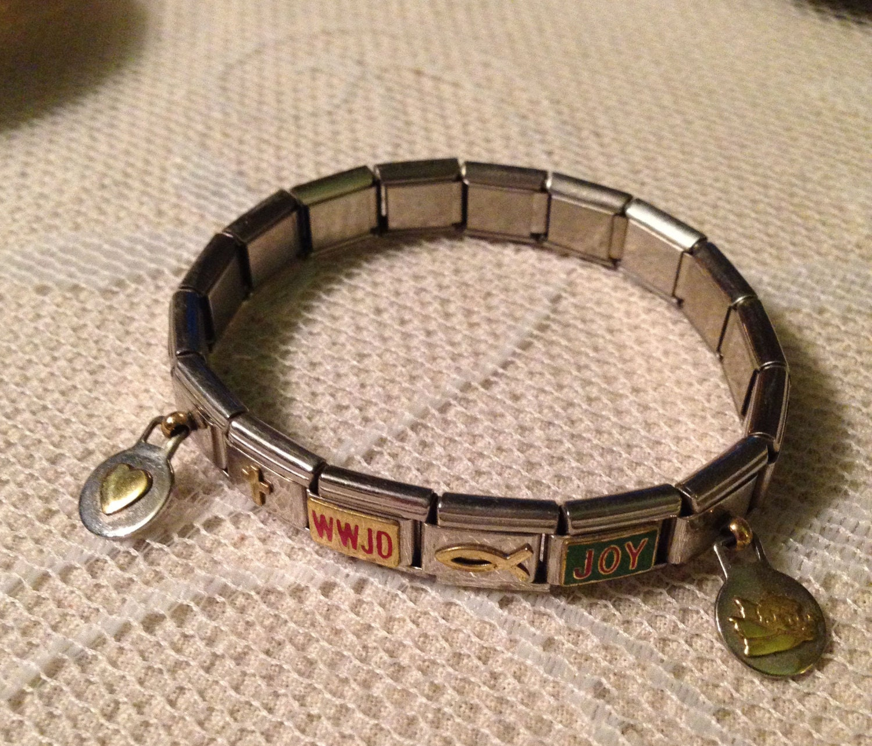 Italian Charm Bracelet Add A Link Six Christian Charms