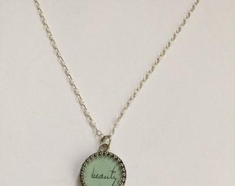 Sterling silver vintage sweetheart necklace