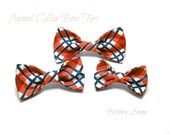 Riley- Animal Collar Bow Ties, Loop Velcro Attachment