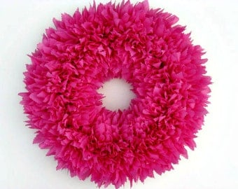 Pink Wreath --- Outdoor Wreath --- Baby Girl Wreath --- Door Wreath --- Indoor Outdoor Wreath --- Spring Wreath --- Baby Shower Decor