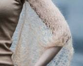 Hand Knit Shrug Handknit Scarf Hand Knit Lace Scarf Hand Knit Lace Shrug Warm Nude