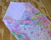 Butterfly Baby Blanket, Newborn Baby Quilt, Large Receiving Blanket