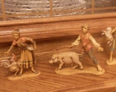 Set of 5 Fontanini Italian Collectible Figurines