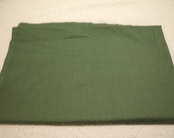 "Brand New Dark Sage Green Cotton/Poly Blend Fabric  36"" x 44"""