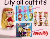 Save for Lily Promotion1: Changeable Clothes Crochet Doll and 20 styles Outfits Pattern ( PDF only )