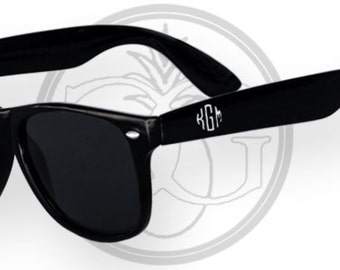 RESERVED LISTING-Tortoise Wayfarer with Double Circle Monogram in Gold