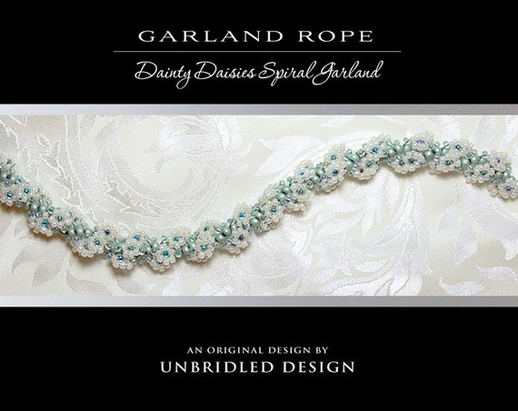 Garland Rope beaded flower spiral PDF Tutorial