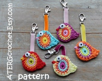 Crochet pattern BIRD key ring by ATERGcrochet