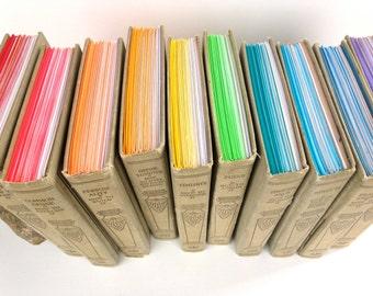 Ten Journal Set - Rainbow - Mental Efficiency Series, Ten Ombre Journals, Rainbow Journals, Hardcover Journal Set, Hardcover Notebook Set