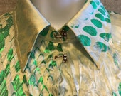 Authentic Vintage ROBERTO CAVALLI Signature Crinkled Silk Sexy Luxurious Blouse Shirt Top Made in  ITALY