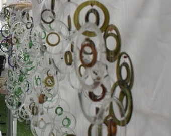 WHSL ORDER No. 3, eco friendly and green, glass wind chimes, windchimes, mobiles