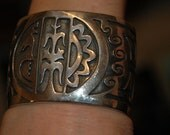 2nd Payment for P. SOLD Stunning Large Vintage Heavy Sterling Silver Hopi pictorial Bracelet - 126 Grams  Hallmarked