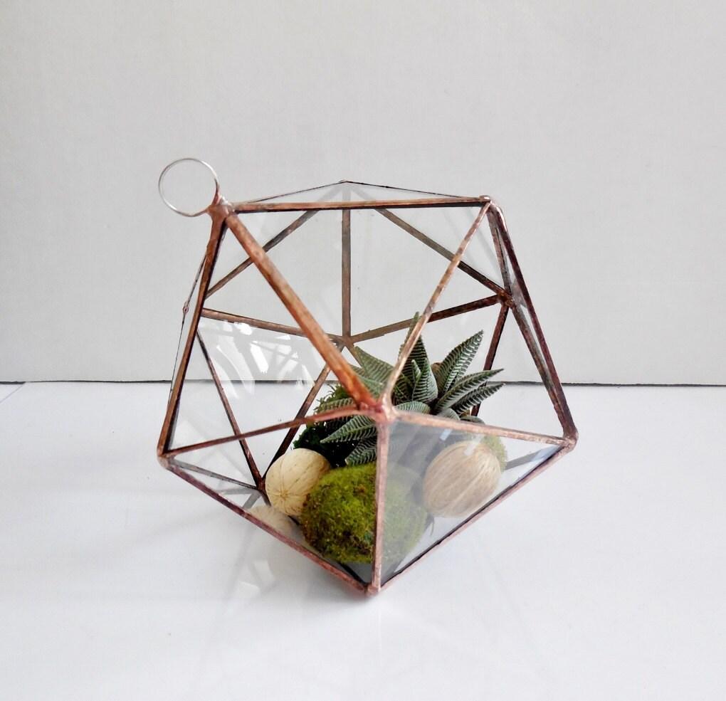 Hanging glass terrarium geometric glass terrarium for for Indoor gardening glasses