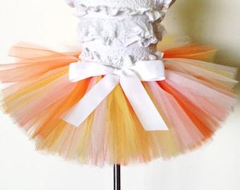 "Halloween tutu ""Candy"" orange, yellow & white tutu girls tutu children's tutu photo prop tutu skirt size 5,6,7,8,10,12 candy corn costume"