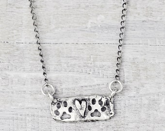 Two Paws Up Necklace- Dog Lover Jewelry- Puppy Paw Necklace - N678