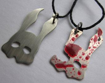 Bioshock Inspired Nickel Silver Splicer Mask OR Bloody Nickel Silver Splicer Mask