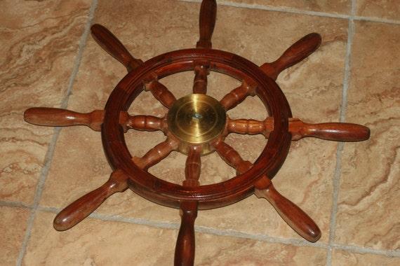 10 de rabais bois et laiton bateau roue 22 bateau de. Black Bedroom Furniture Sets. Home Design Ideas