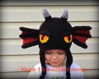 Dragon Hat - Crochet Pattern 75 - US and UK Terms - PDF - Instant Download